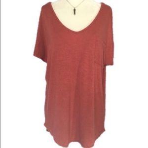 Pink Rose Size Large Short Sleeve Tee Shirt